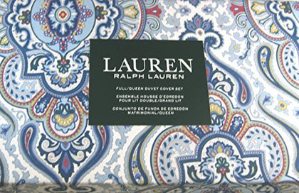 3 Pc. Lauren Baroque Medallion Floral Full/Queen Size Duvet Cover Set With 2 Shams 100% Cotton