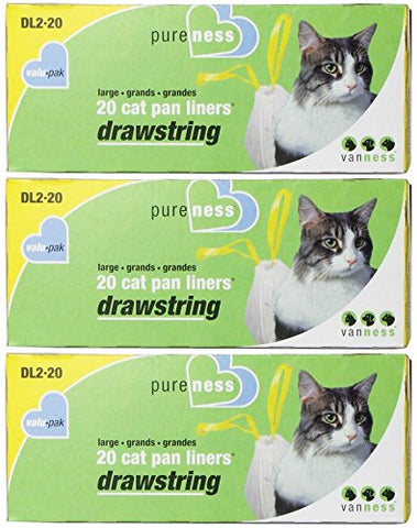 Pureness Large Drawstring Valu-Pak Cat Pan Liners, 20 Count