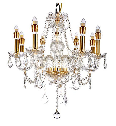Luminance F5455-53 Contemporary 5 Incandescent Chandelier Light with Satin Nickel Finish