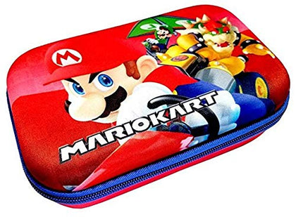 Hard Shell Molded Zippered Pencil/Storage Case Super Mario Bros Kart