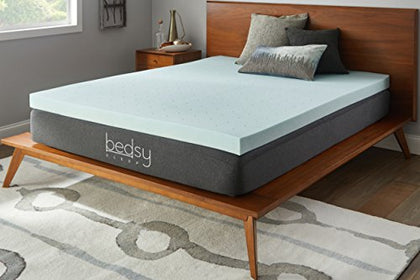 Bedsy Sleep 3  Gel Memory Foam Mattress Topper, Soft, King