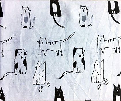 Cynthia Rowley Cats Drawings Sheet Set - Twin Xl Size (Microfiber)