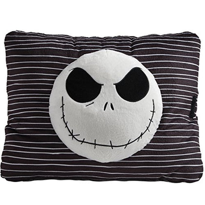 Pillow Pets Black Jack Skellington Nightmare Before Christmas - Stuffed Plush Toy For Sleep, Play, Travel, And Comfort - Great For Boys And Girls Of All Ages - Soft And Washable