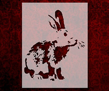 Detailed Bunny Rabbit 11  X 8.5  Custom Stencil Fast Free Shipping (150)