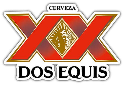 Cerveza Dos Equis Logo Sticker Car Bumper Decal 5'' X 3''