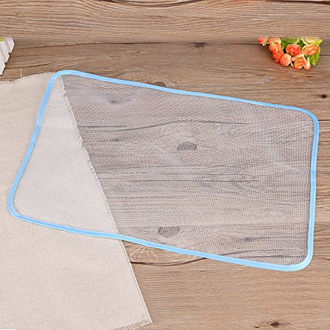 Fdit Protective Ironing Scorch-Saving Mesh Pressing Pad Mesh Cloth High  Temperature Anti Skid Anti Scalding Ironing Heat Insulation Pad Household  (S)