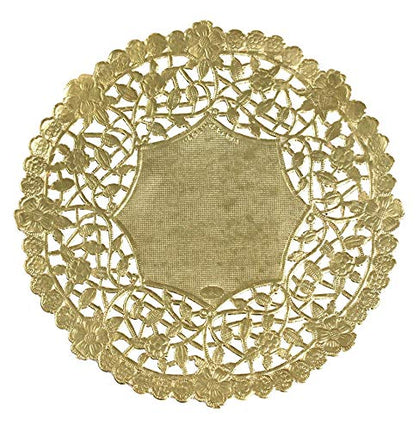 Hygloss Products 6 Inch Gold Foil Doilies - Round Doilies Made In The Usa,