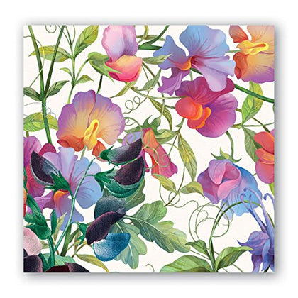 Michel Design Works 20-Count 3-Ply Paper Cocktail Napkins, Sweet Pea