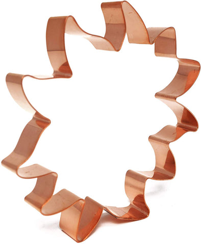 Sunflower Head Copper Cookie Cutter