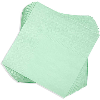 Juvale Paper Party Napkins (100 Count), Mint Green, 6.5 Inches
