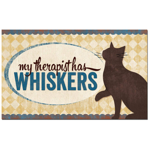 """My Therapist Has Whiskers"" Decorative Flex Magnet"