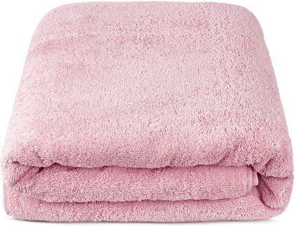 Turkuoise Premium Quality Bath Sheet, Extra Large, 100% Turkish Cotton (Rose, 40X80 Inches)