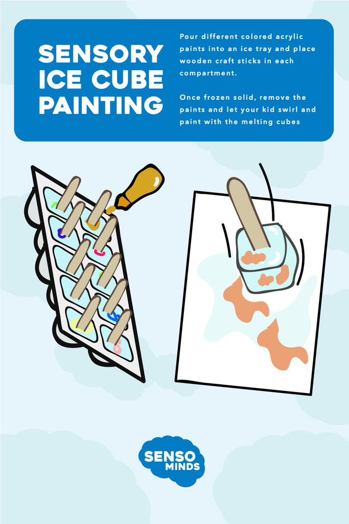 Sensory Activities - Ice Cube Painting