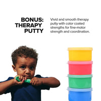 Sensory Busy Board + BONUS 4 Pack Therapy Putty & Peg Board
