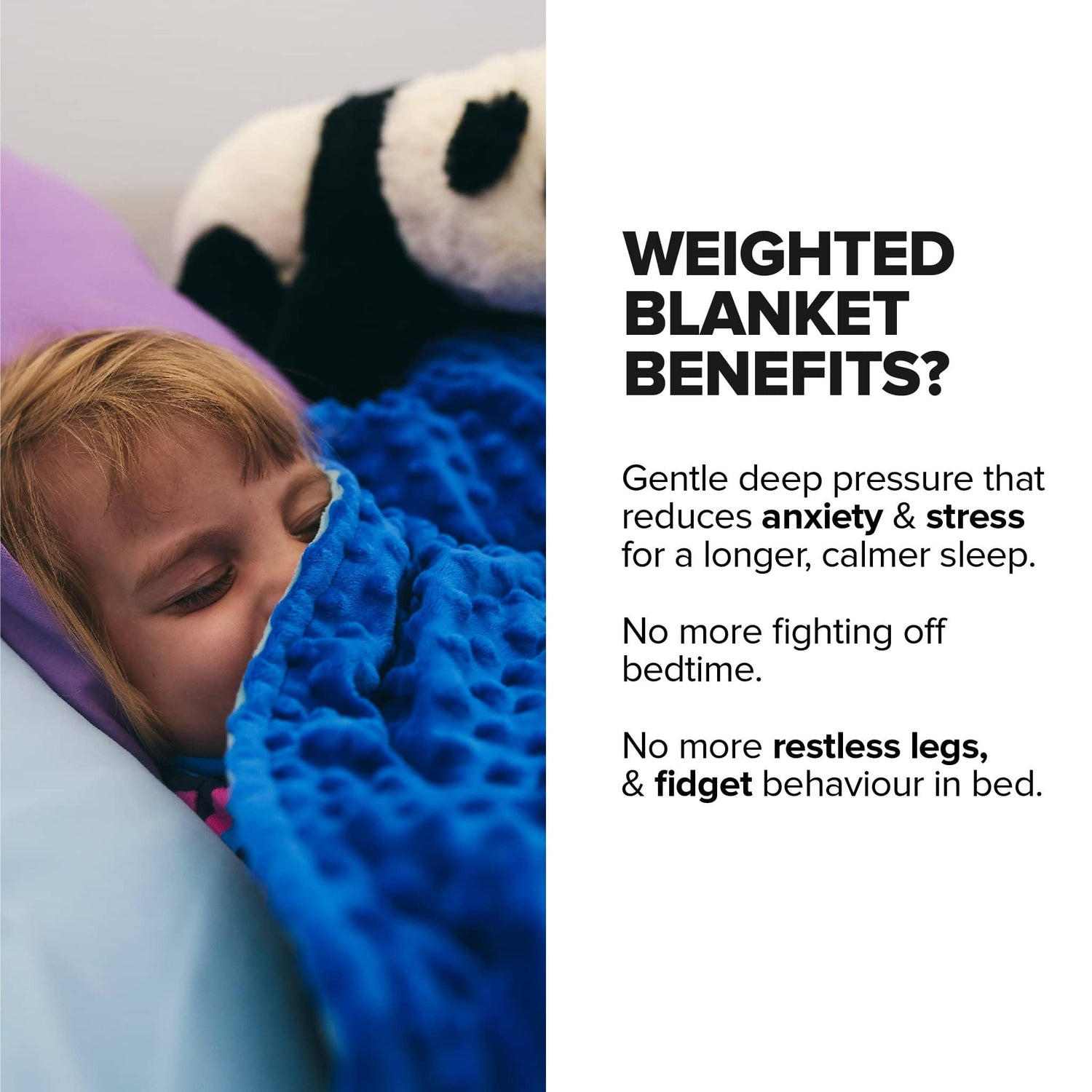 Calming Weighted Blanket + BONUS Sensory Duvet (60