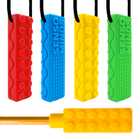 Sensory Chew Necklace Bundle (4 Pack + Bonus Pencil Topper)