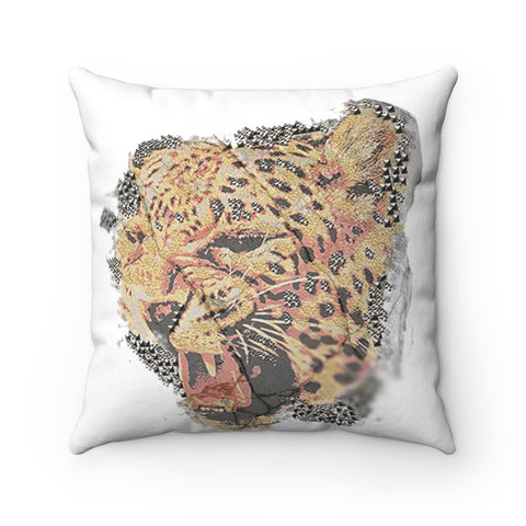 Spun Polyester Square Pillow tiger