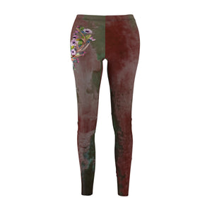 Legging tie dye Boho Hippie Pant graphic skull decorated western Women's thigh Plus size