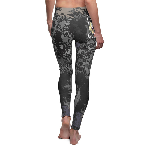Legging Women's printed tie dye Peace Love & Good Vibes Yoga pants