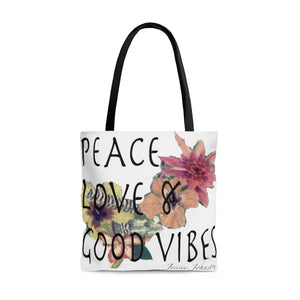 Tote Bag-Peace Love & Good vibes-Perfect gift-