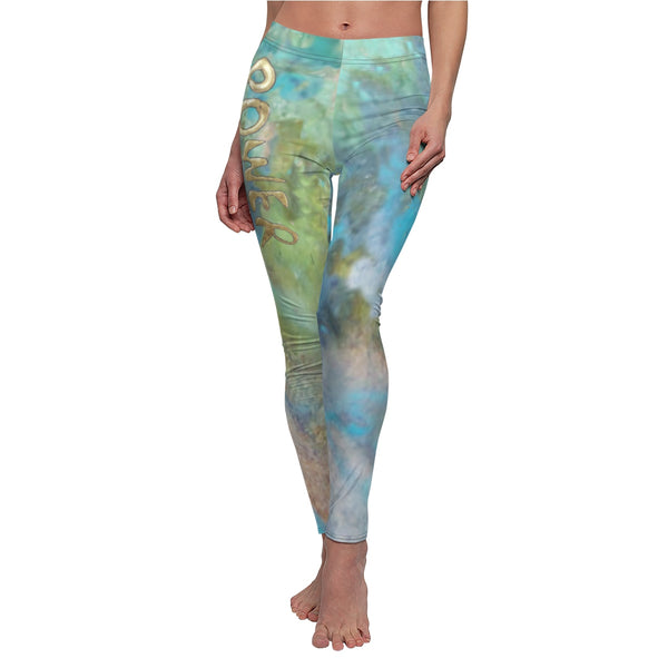 Legging Women tie dye yoga pant boho hippie Power graphic saying