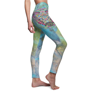 Legging tie dye Women's Casual Boho Hippie pants Plus size Thigh