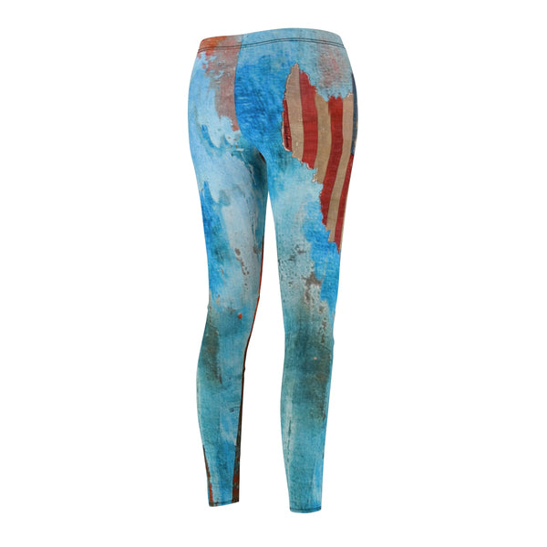Legging American Flag Vintage-Boho Pants-Gym-Yoga-Casual