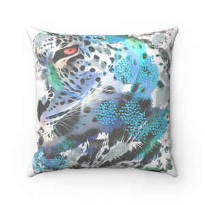 Spun Polyester Square Pillow BLUE TIGER