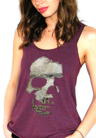 Racerback Tank women s skull fashion graphic design
