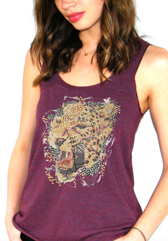 Racerback Tank fashion tank top tiger