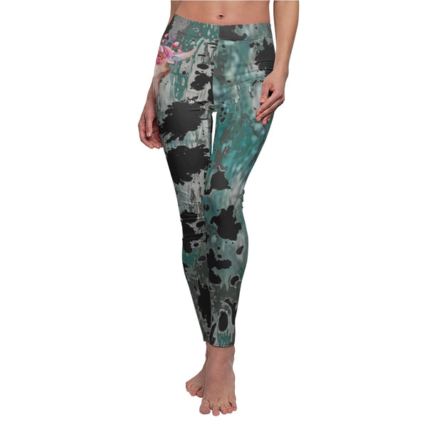 Legging printed yoga pant thigh Casual gym tie dye graphic design Boho Hippie