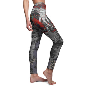 Legging Women's tie dye painting elephant print, good luck design yoga gym Boho Chic Plus size