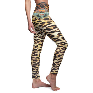 Leggings Leopard print Skull Live to Ride Sexy High waist thigh for womens Plus size Yoga Training Casual'