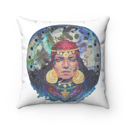 Spun Polyester Square Pillow gypsy