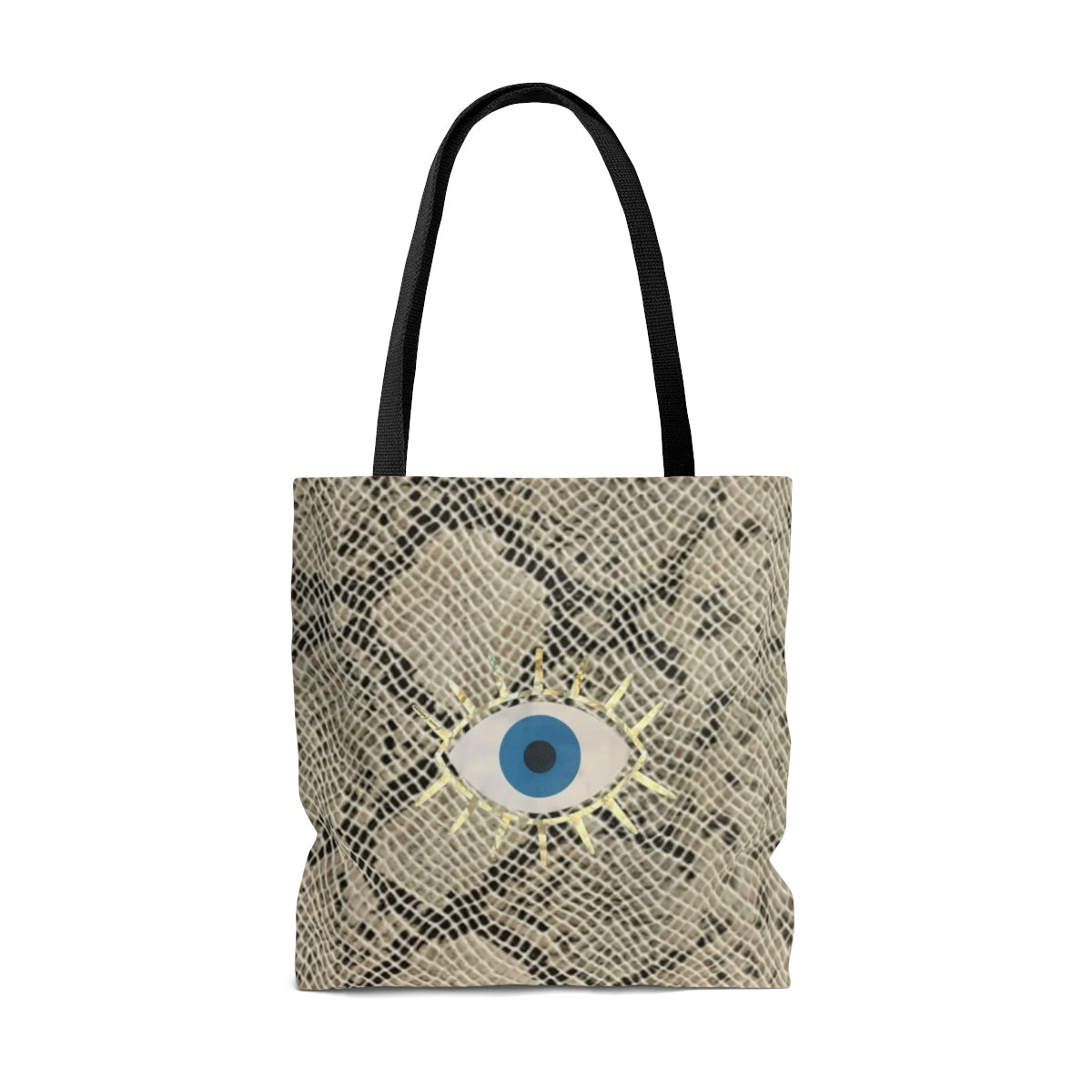 Tote Bag snake print evil eye
