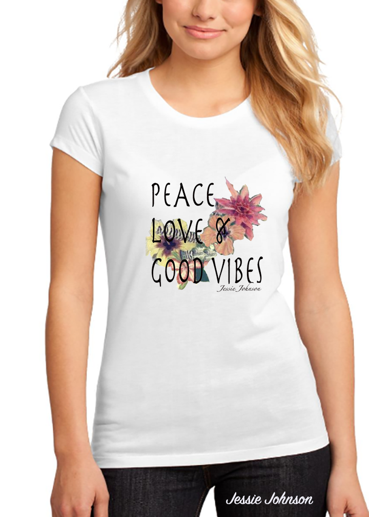 Crew neck fashion t shirt   Boho Hippie tees