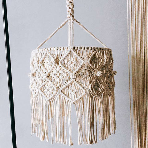 Bohemian Decor Macrame Tapestry Wall Hanging  Chandelier
