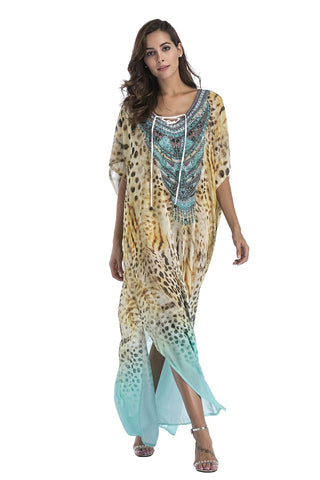Beach Dress Summer Covers Up Printed