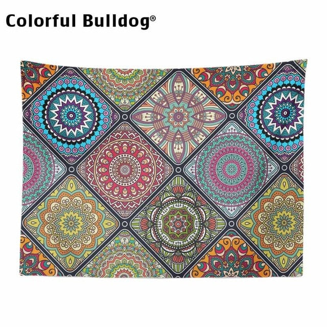 Bohemian Tapestry Mandala Christmas Geometric Chevron Moroccan Checkered Zigzag Wall Hanging Home Decoration Blanket Farmhouse
