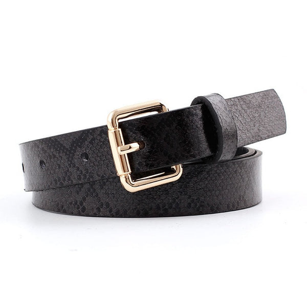 Pu Leather Snake Waist Belt Women 2019 Hot Designer Belts For Women's Dress Cinto Feminino