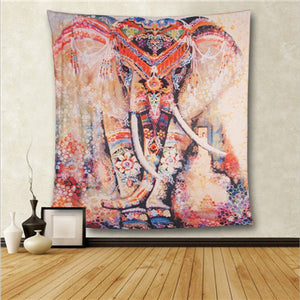 Tapestry Wall Hanging Elephant Art Psychedelic Hippie