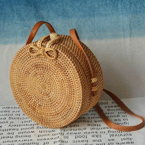 Women Boho Rattan Shoulder Bags  Handbag  2019 Fashion Summer Classic Crossbody