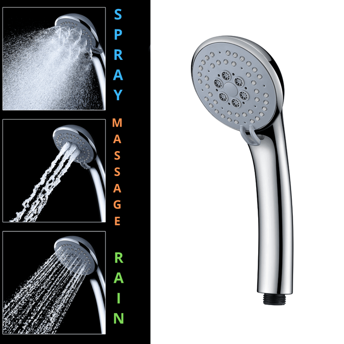 3 Function Chrome Hand Shower Head (WELS 4-Star) - MUZT