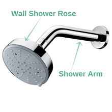 Load image into Gallery viewer, 3 Function Chrome Wall Shower / Tube Chrome Brass Shower Arm - MUZT