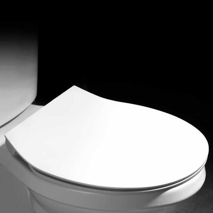 MUZT Deluxe Soft Close Quick Release Toilet Seat - Opal (Oval Shaped)