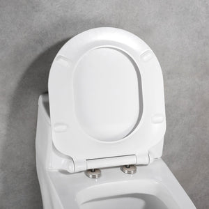 MUZT Deluxe Soft Close Quick Release Toilet Seat - Seashell (Slim Designed D Shaped)