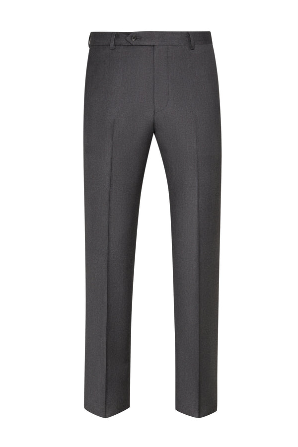 Charcoal Flat Front Trousers