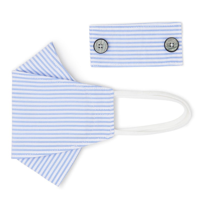 Navy Gingham Check Mask