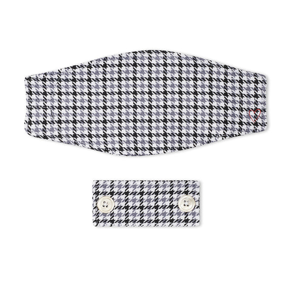 Charcoal Houndstooth Mask