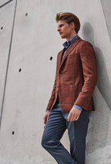 Copper Windowpane Dreamtweed Jacket - Classic Fit